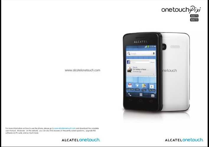 alcatel one touch 2045x user manual