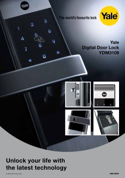 yale digital door lock manual
