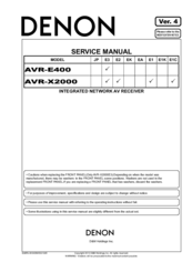 denon avr 3312 service manual