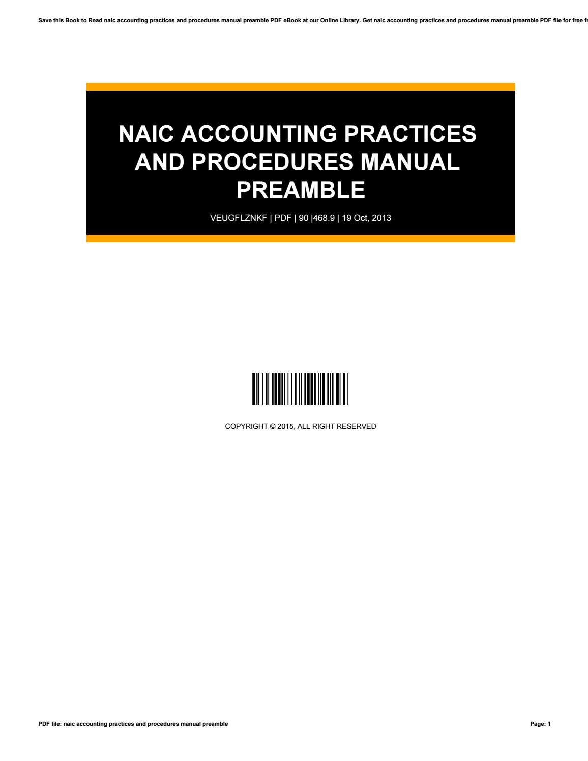 accounting practices and procedures manual