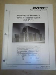 bose acoustimass 25 series ii service manual
