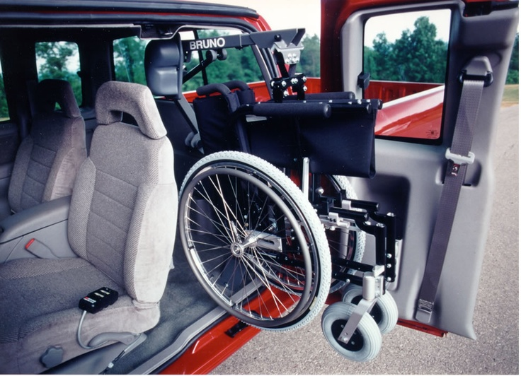 manual wheelchair lift for car