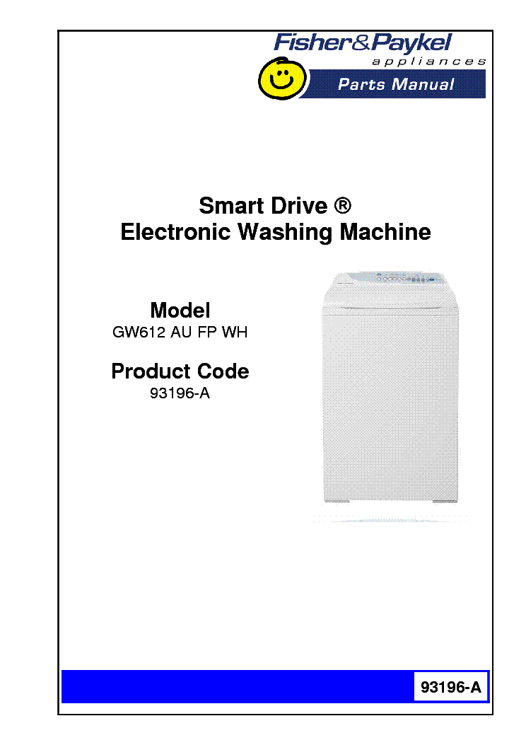 fisher and paykel gw612 service manual