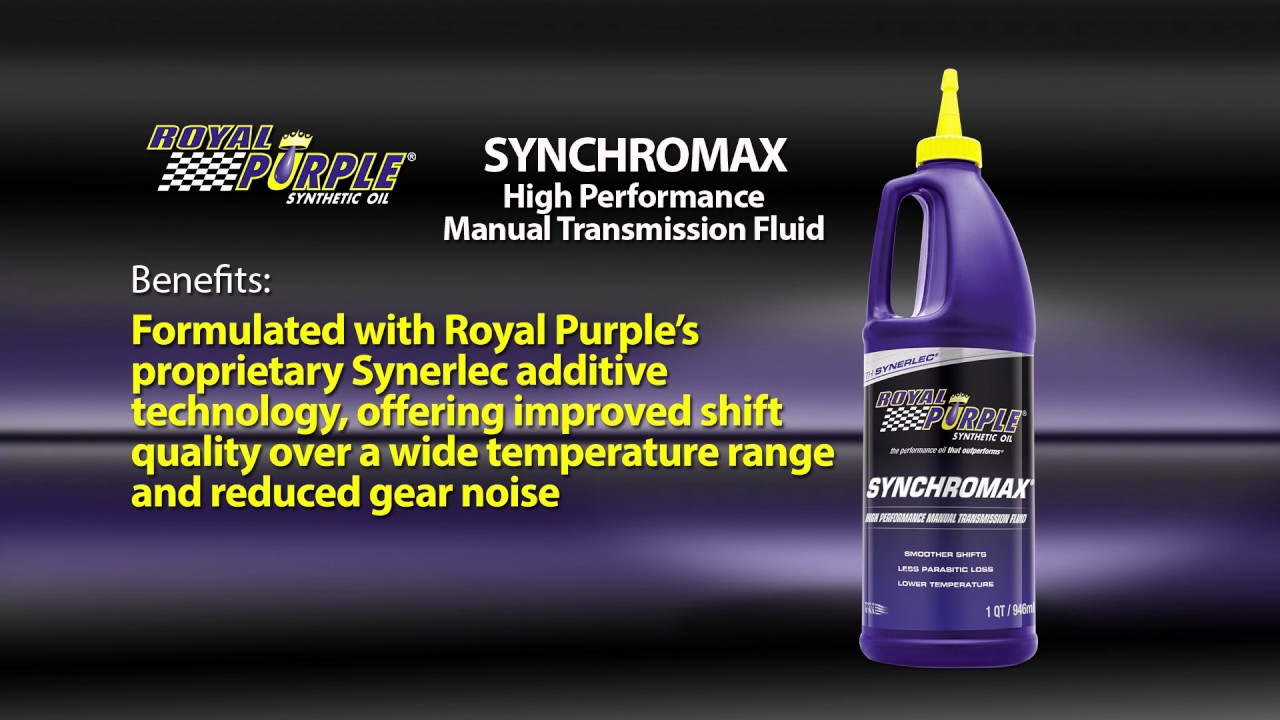 royal purple manual transmission fluid