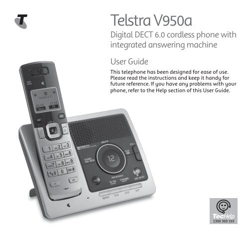telstra 9850 dect 6.0 cordless phone manual