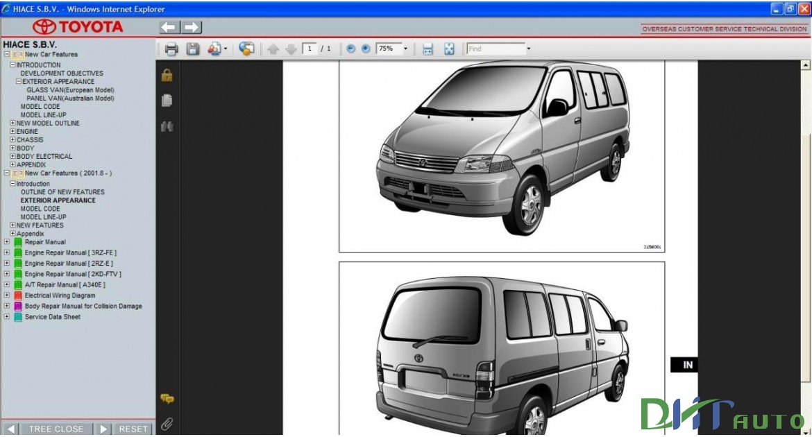 toyota hiace sbv workshop manual