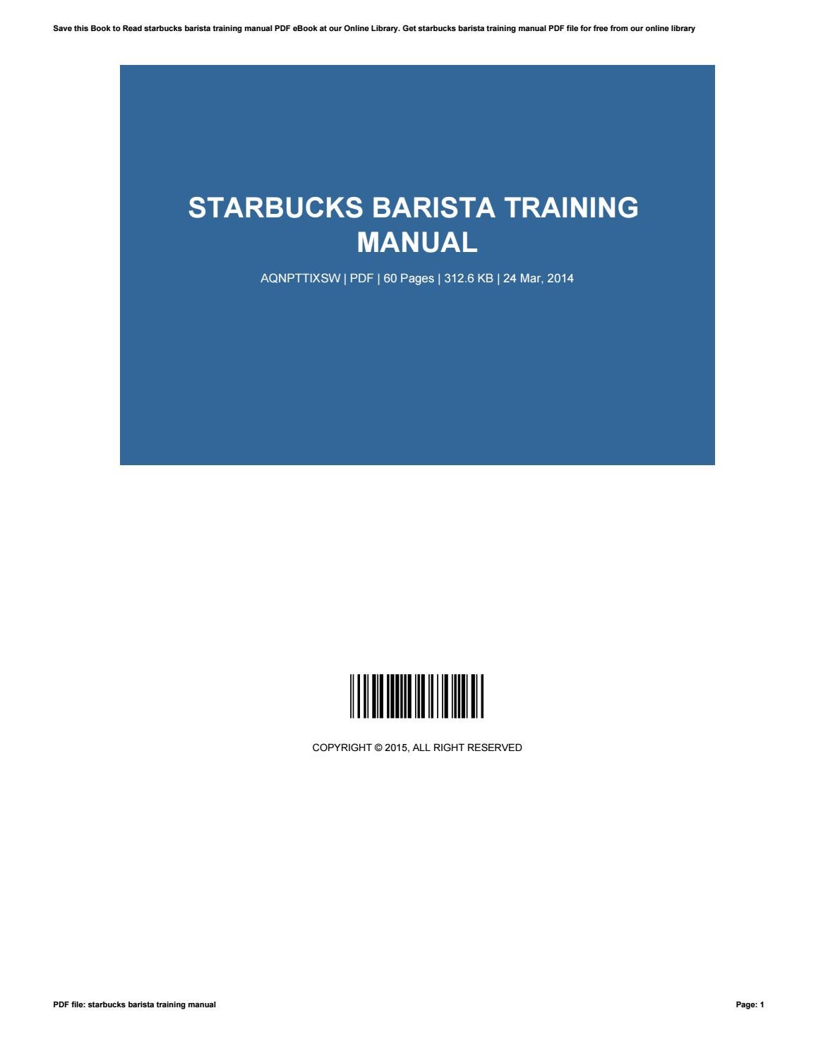 what is a training manual